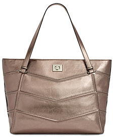 I.N.C. Marney Metallic Laptop Tote, Created for Macy's