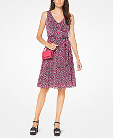 MICHAEL Michael Kors Printed Fit & Flare Dress, Regular & Petite
