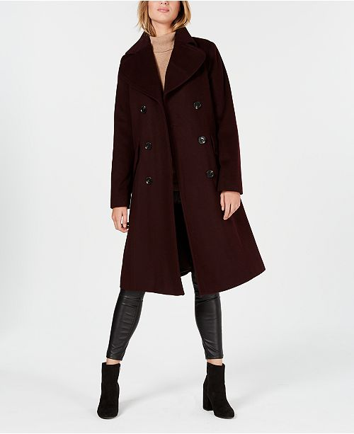 00be5650de Michael Kors Double-Breasted Peacoat   Reviews - Coats - Women ...