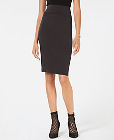 I.N.C. Curvy-Fit Ponte Pencil Skirt, Created for Macy's