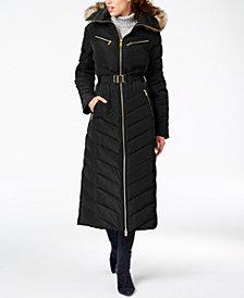 MICHAEL Michael Kors Petite Faux-Fur-Trim Maxi Puffer Coat