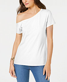 I.N.C. One-Shoulder T-Shirt, Created for Macy's