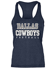 Authentic NFL Apparel Women's Dallas Cowboys Practice Glitter Tank Top