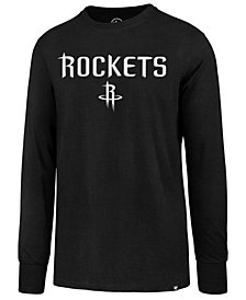 '47 Brand Men's Houston Rockets Regional Slogan Long Sleeve Superrival T-Shirt