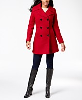 766461b4ed2 Anne Klein Double-Breasted Peacoat
