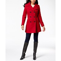 Deals on Anne Klein Double-Breasted Peacoat