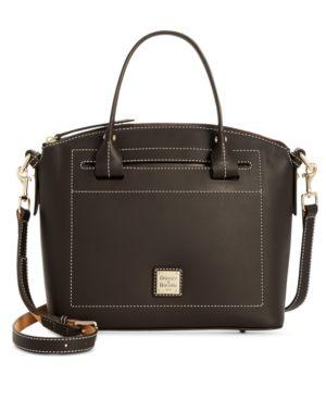 Image of Dooney & Bourke Beacon Domed Medium Smooth Leather Satchel