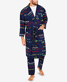 Nautica Men's Cozy Fleece Logo Robe
