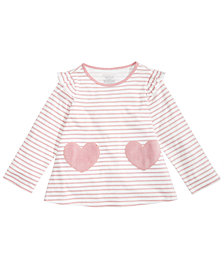 First Impressions Toddler Girls Stripes & Heart Cotton Top, Created for Macy's