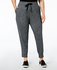 Calvin Klein Performance Plus Size High-Waist Joggers