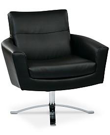Duban Faux Leather Chair, Quick Ship