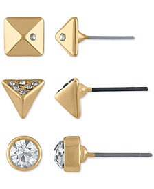 RACHEL Rachel Roy 3-Pc. Set Gold-Tone Spike Earrings