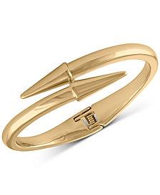 RACHEL Rachel Roy Gold-Tone Spike Bypass Bracelet