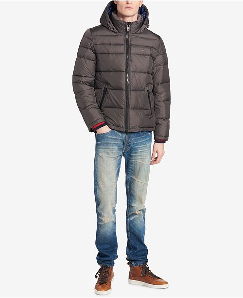 da8872dc87485 Tommy Hilfiger Men s Big   Tall Quilted Hooded Puffer Jacket ...