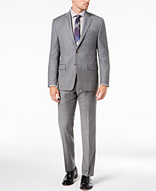 Lauren Ralph Lauren Men's Classic-Fit UltraFlex Stretch Charcoal Windowpane Suit