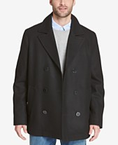 Tommy Hilfiger Men s Double-Breasted Wool Peacoat 3537d54b8