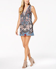 foxiedox Floral-Embroidered Shift Dress