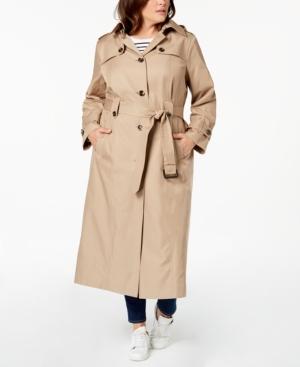 Vintage Coats & Jackets | Retro Coats and Jackets London Fog Plus Size Belted Maxi Trench Coat $209.99 AT vintagedancer.com