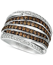 Le Vian Chocolatier® Diamond Multi-Row Statement Ring (1-1/4 ct. t.w.) in 14k White Gold