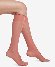 HUE® Compression Sheer Knee-High Socks