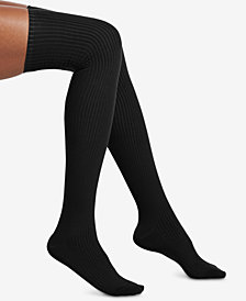 HUE® Ribbed Over-The-Knee Socks