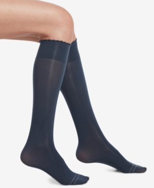 Image of Hue Compression Opaque Knee-High Socks