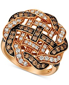 Chocolatier®  Diamond Weave Statement Ring (1-1/3 ct. t.w.) in 14k Rose Gold