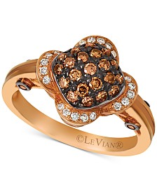 Le Vian Chocolatier® Diamond Cluster Ring (1/2 ct. t.w.) in 14k Rose Gold