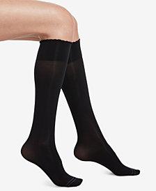 HUE® Compression Opaque Knee-High Socks