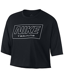 Nike Plus Size Logo Cropped Training T-Shirt