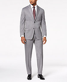 Sean John Men's Classic-Fit Stretch Gray Tic Suit Separates