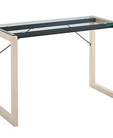 Modway Medley Glass Top Writing Desk Clear