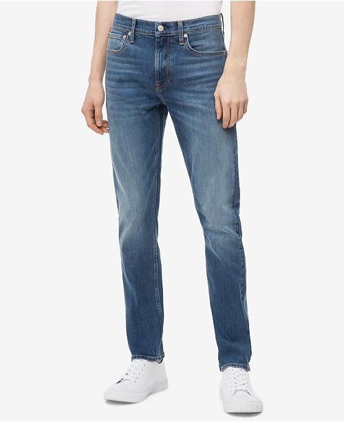d80b179c Calvin Klein Jeans Men's Slim-Fit Jeans & Reviews - Jeans - Men - Macy's