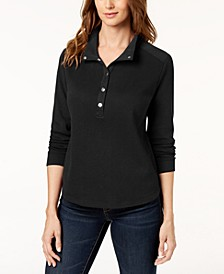 Sport Wing-Collar Snap-Front Top, Created for Macy's