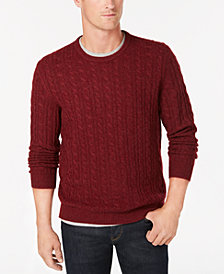 Club Room Men's Cable-Knit Cashmere Sweater, Created for Macy's