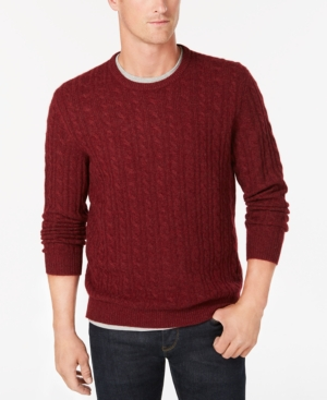 Club Room Men's Cable-Knit...