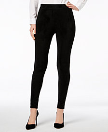I.N.C. Faux-Suede Leggings, Created for Macy's