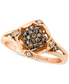 Le Vian® Diamond Cluster Ring (1/4 ct. t.w.) in 14k Rose Gold