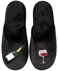 I.N.C. Beverage Icon Velour Slippers, Created for Macy's