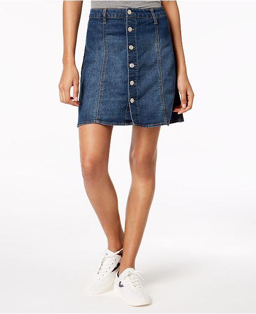 ed2335c21f3 Tinseltown Juniors  Button-Front Denim Skirt   Reviews - Skirts ...