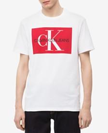 6ffc2532f98e7 Calvin Klein Jeans Men s Monogram Logo-Print T-Shirt