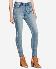 Jessica Simpson Juniors' Chroma Curvy High-Rise Skinny Jeans