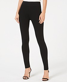 INC Seamed Pull-On Ponte Skinny Pants