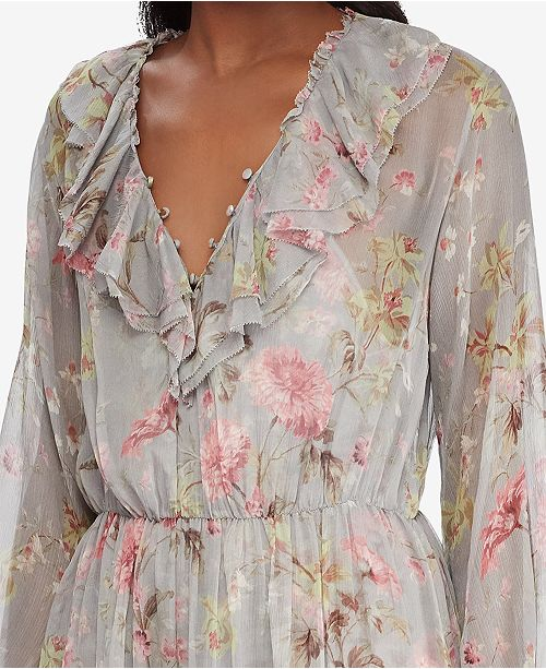 4ce26e84bec Polo Ralph Lauren Floral-Print Silk Dress & Reviews - Dresses ...
