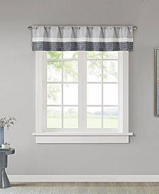 "Madison Park Amherst Colorblocked 50"" x 18"" Rod-Pocket Window Valance"