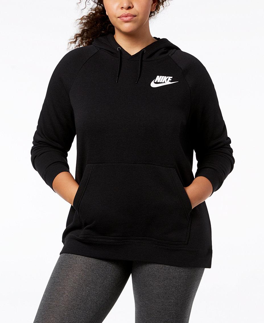 714509e1c611 Nike Plus Size Sportswear Rally Fleece Hoodie   Reviews - Tops ...