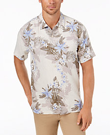 Tommy Bahama Men's Shadow O' Lei Silk Camp Shirt