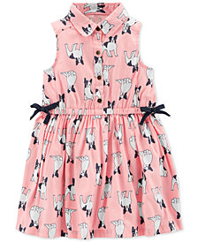 Carter's Toddler Girls French Bulldog-Print Shirtdress