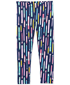 Carter's Toddler Girls Pencil-Print Leggings