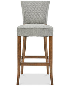 Fletcher Quilted Barstool, Quick Ship
